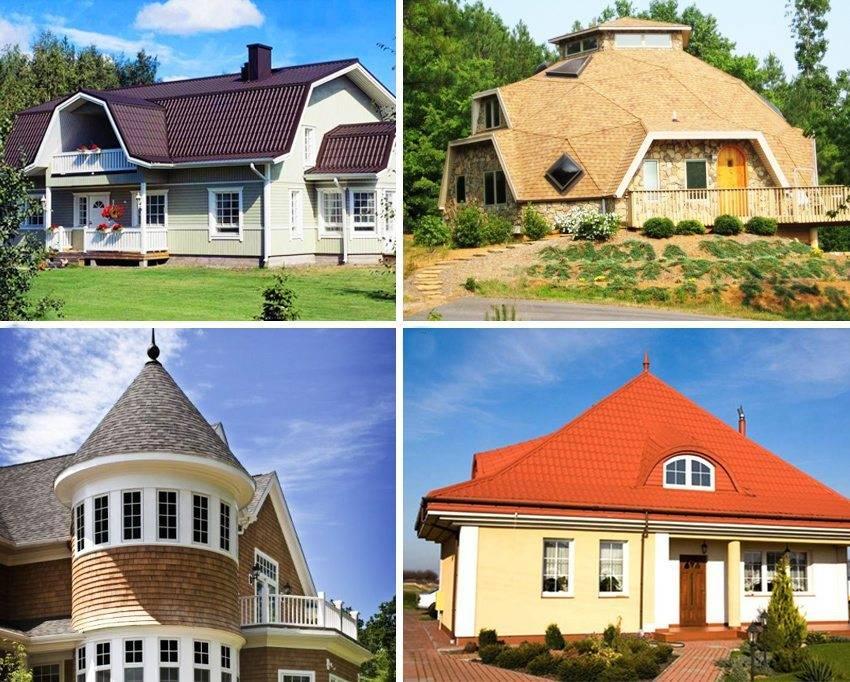 Крыша дома – подбор вариантов конструкций и обзор основных характеристик (110 фото)