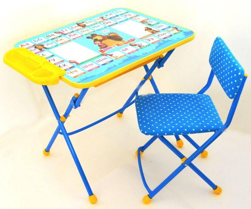 Варианты выбора детских складных столиков