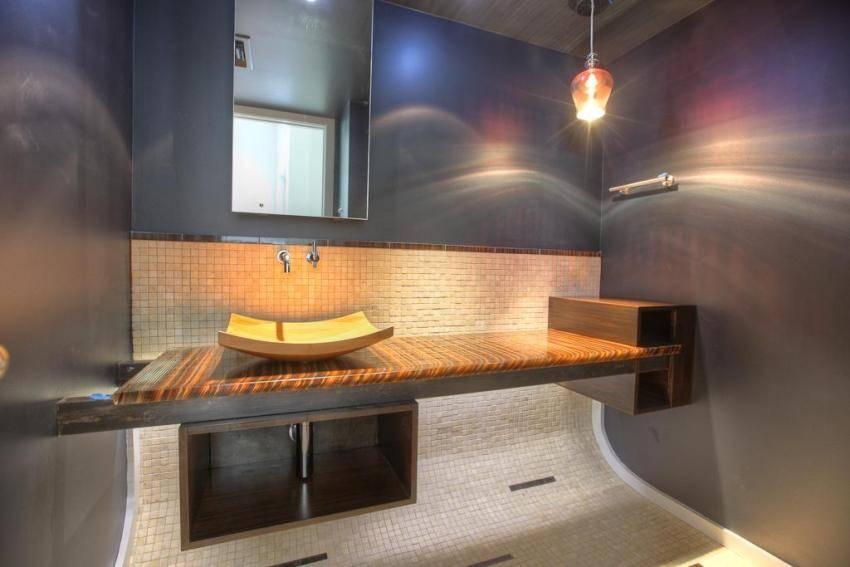 Мозаика в интерьере ванной комнаты - 89 фото примеров