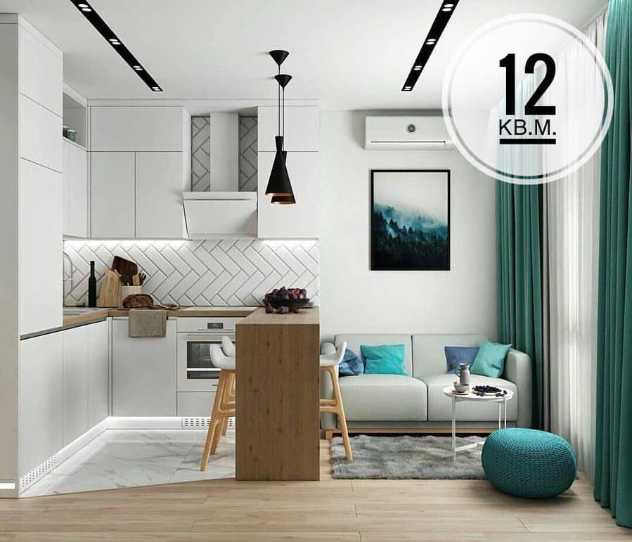 Дизайн квартиры-студии 20 кв. м. [60+ фото] планировки, зонирование