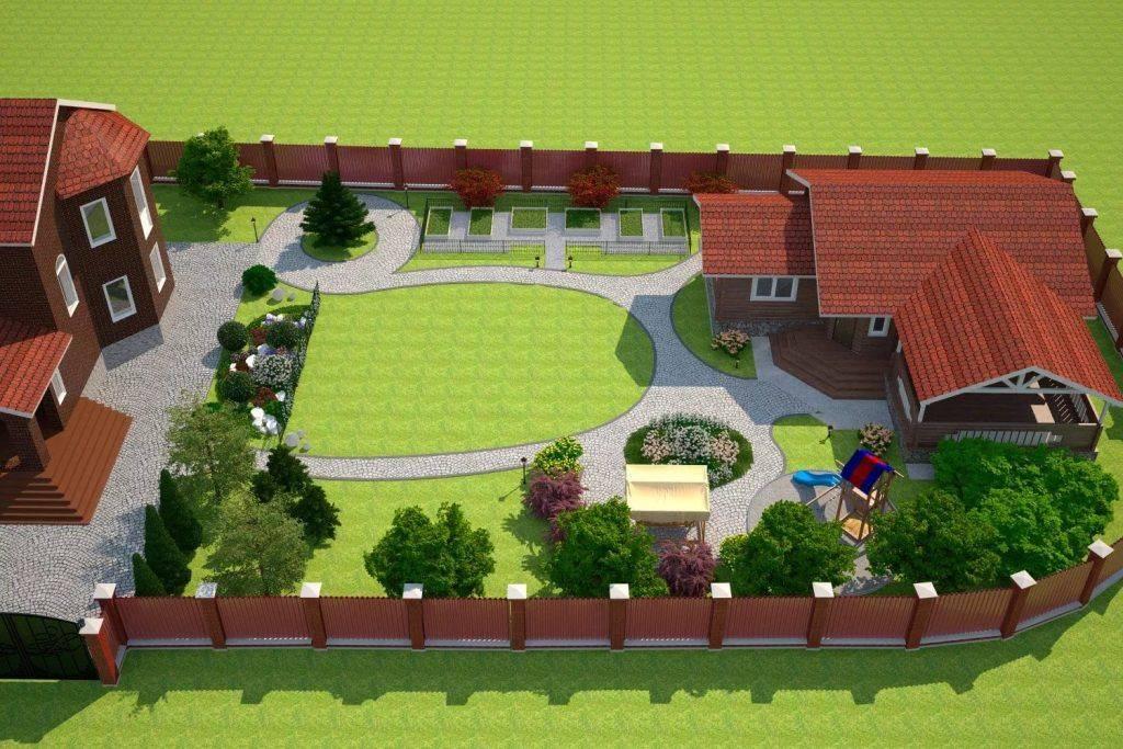 Планировка участка (208 фото): ландшафтный дизайн и обустройство приусадебного и дачного земельного отрезка