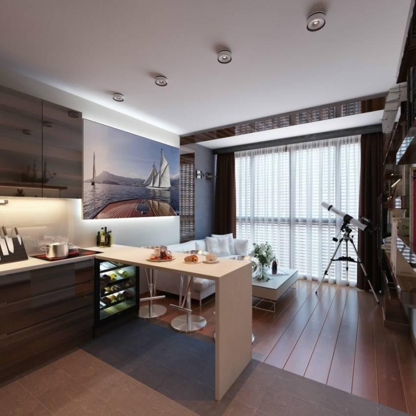 Кухня-студия (98 фото): проекты дизайна интерьера квартиры с совмещенной гостиной