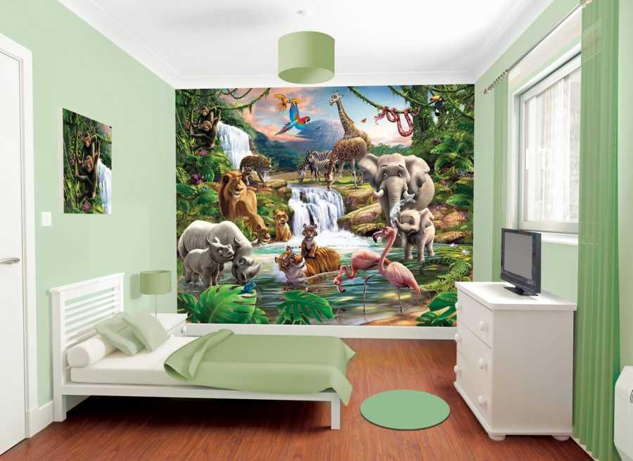 Фотообои в гостиную: лучшие идеи использования 3d обоев расширяющих пространство комнаты, 150 фото