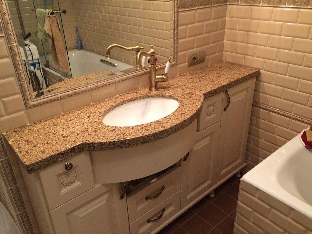 Столешница в ванную комнату под раковину (67 фото): из плитки и мозаики, акриловая и влагостойкая, из гипсокартона и другие варианты. оптимальная высота стола под раковину