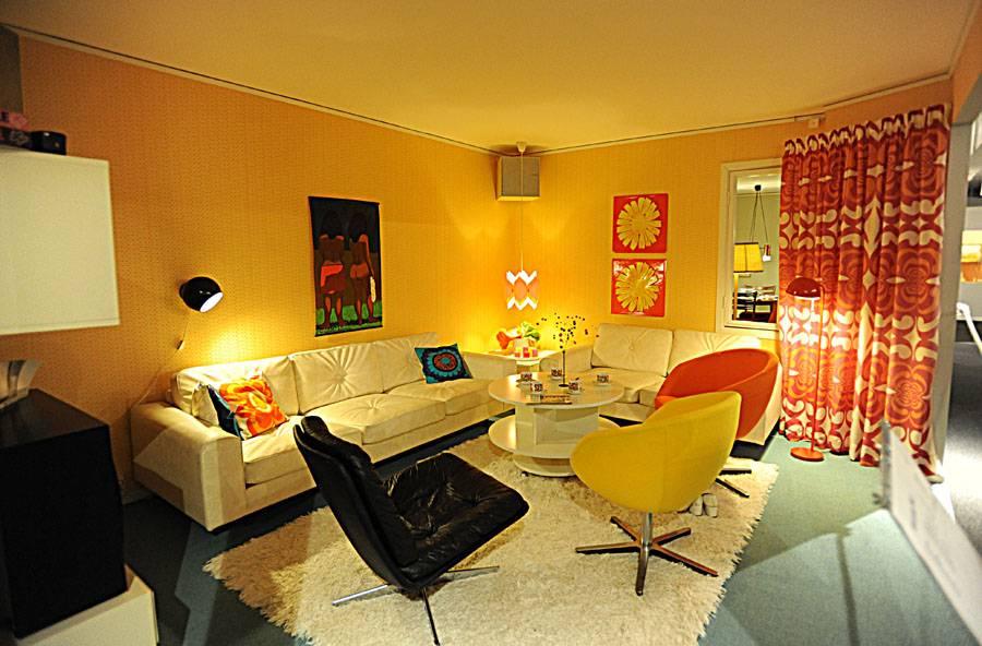 Стиль 70-х в интерьере (51 фото): мебель для квартиры, кресла и столы в стиле ссср, интерьер туалета и кухни