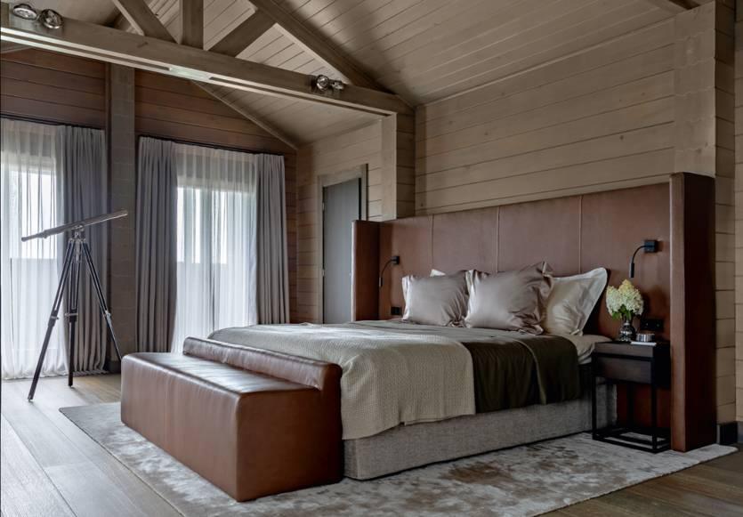 Спальня в деревянном доме: новинки дизайна и 100 фото примеров оформления интерьера (интересные планировки)