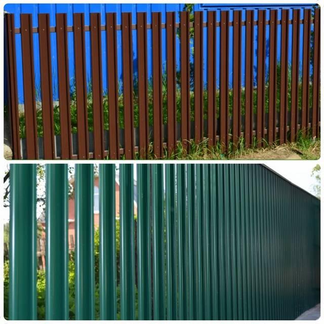 Горизонтальный евроштакетник на заборе
