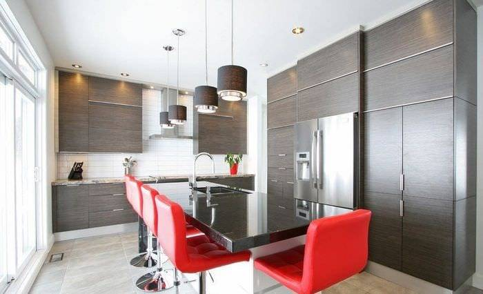 Кухня венге: дизайн и сочетание цвета стильного и благородного африканского дерева в интерьере дома
