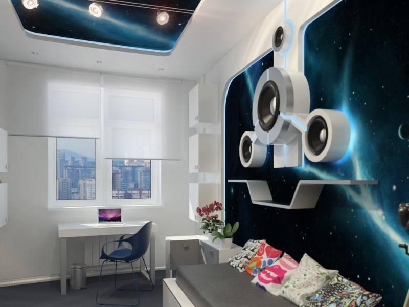 Как оформить комнату в стиле космос - фото, идеи интерьера комнаты в космическом стиле