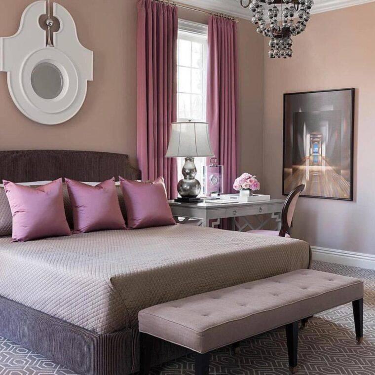Розовая спальня: 145 фото новинок дизайна, советы по выбору цвета и размещению мебели