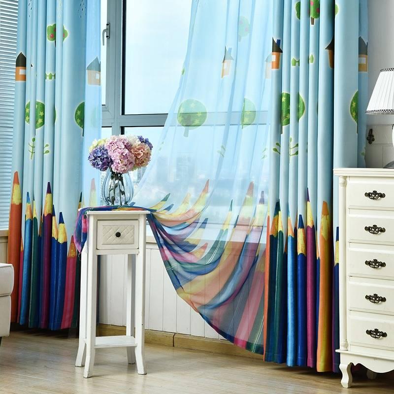 Дизайн штор для детской комнаты — 55 фото новинок штор в интерьере детской
