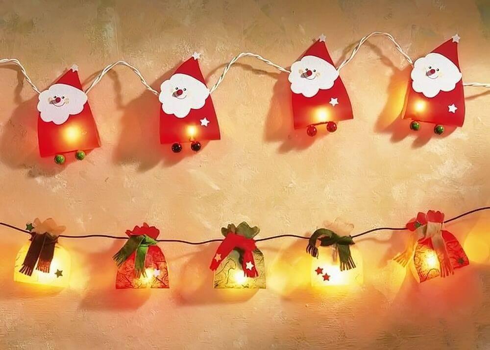 Новогодние гирлянды для праздничного оформления— 65 идей декора