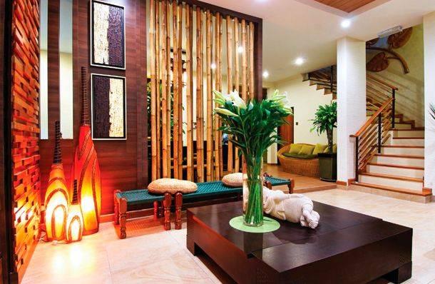 Бамбуковые обои в интерьере: фото - идеи, поклейка
