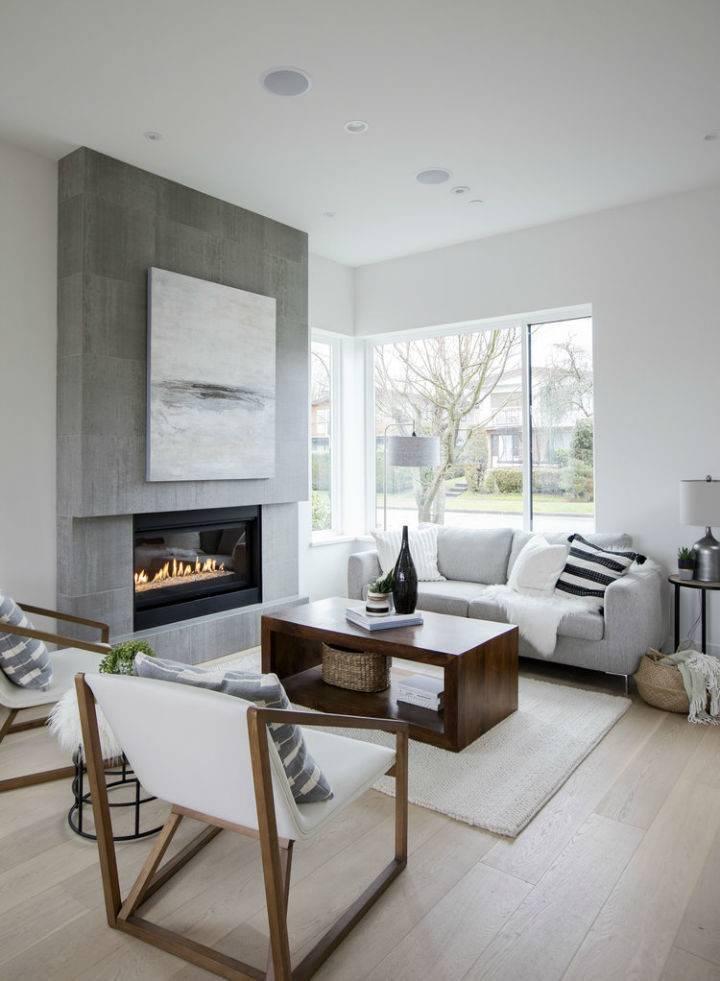 Стиль минимализм в гостиной — варианты дизайна
