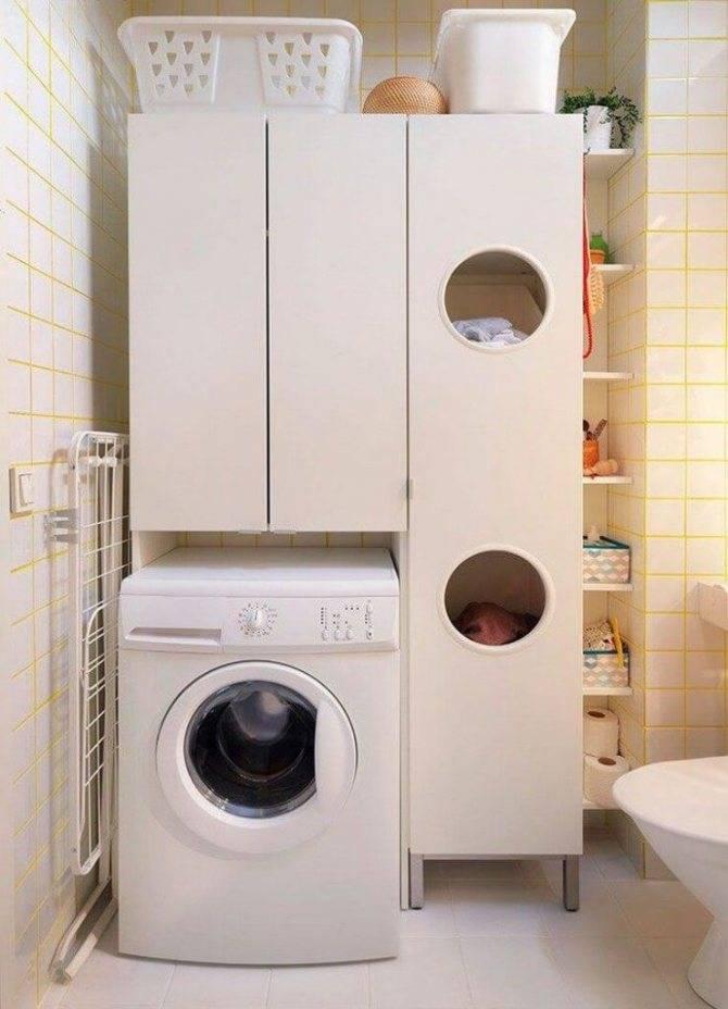 Как расположить стиральную машину в интерьере ванной комнаты (53 фото)