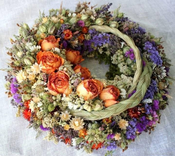 Делаем панно из сухоцветов - «декор»