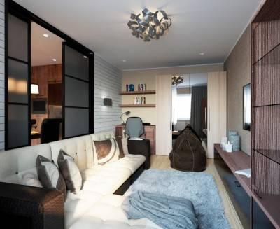 Дизайн квартиры 30 кв. м.: фото планировок небольшой квартиры