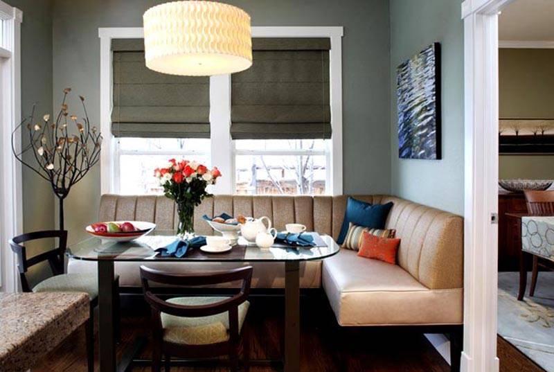 Планировка кухни с диваном (120 фото идей): варианты функционального дизайна и советы по выбору места размещения