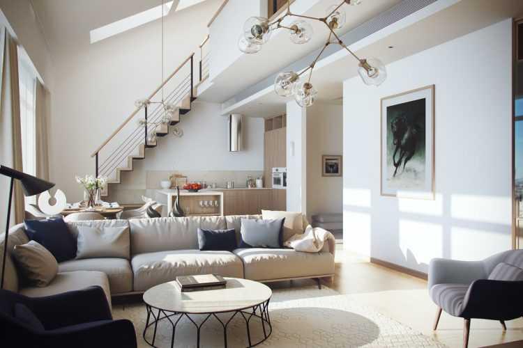 Лестница на второй этаж в гостиной – виды конструкций, и их влияние на облик интерьера