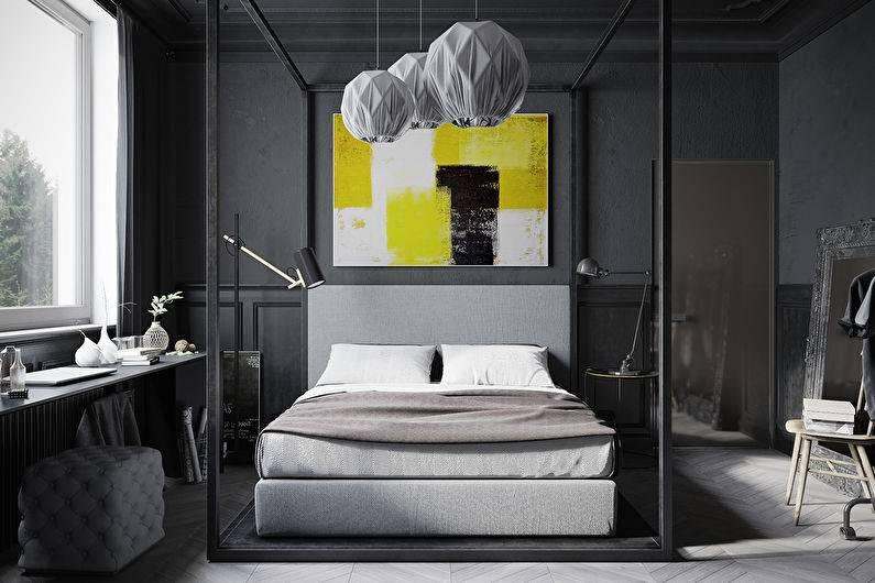 Черная спальня: топ-130 фото и видео идей оформления. особенности черной цветовой гаммы. сочетание отделки потолка, стен и пола. выбор оттенка и фактур