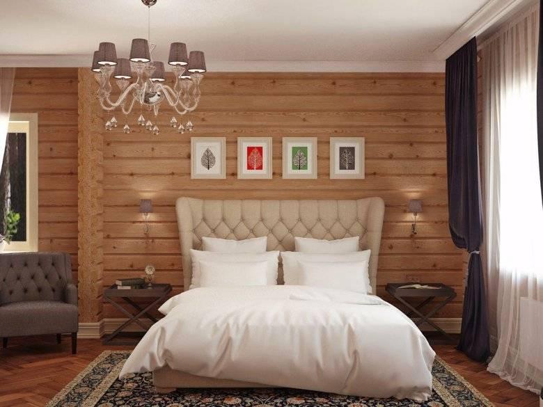 Спальня в деревянном доме (100 фото идей): дизайн интерьера, реальные примеры планировок с красивым сочетанием цветов