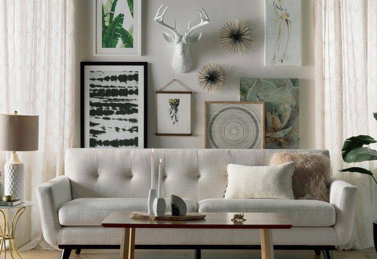 Декор стен в гостиной: лучшие идеи в современном стиле