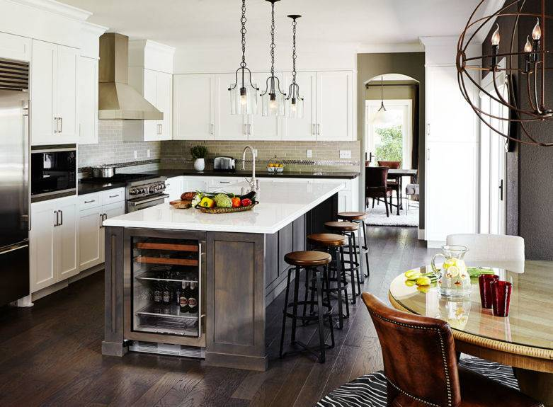 Кухня-гостиная в частном доме: 115 фото идей дизайна интерьера в современном стиле