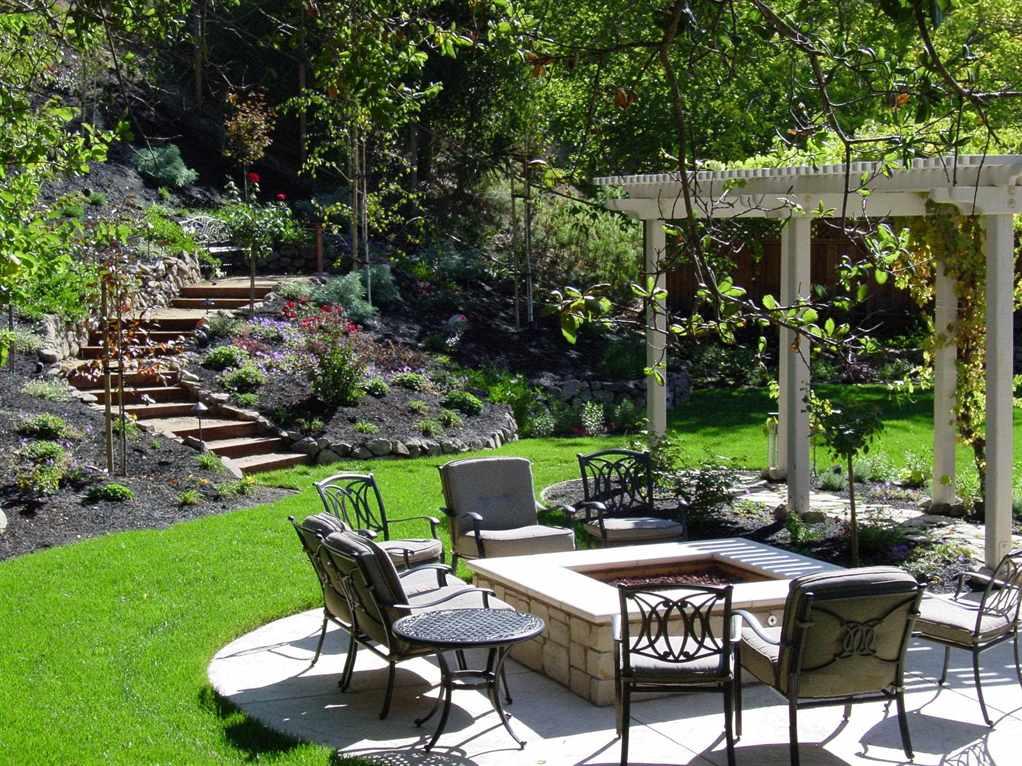 Дизайн двора в частном доме - 28 фото