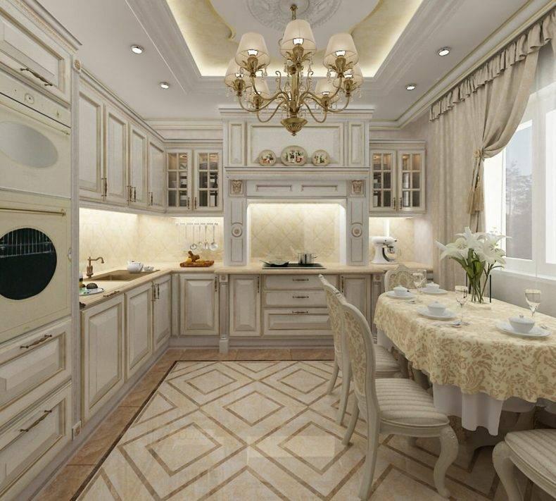 Классика в интерьере кухни: виды дизайна, цвет, свет и форма