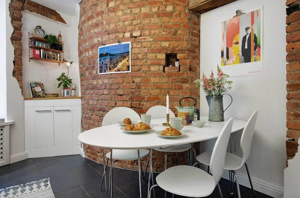 Кирпичная стена в интерьере гостиной (79 фото): варианты дизайна зала со стеной из белого и серого кирпича, плюсы и минусы декоративного кирпича в интерьере