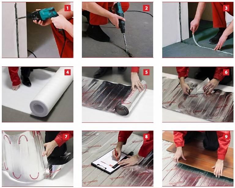 Электрический теплый пол под ламинат – виды, выбор и укладка