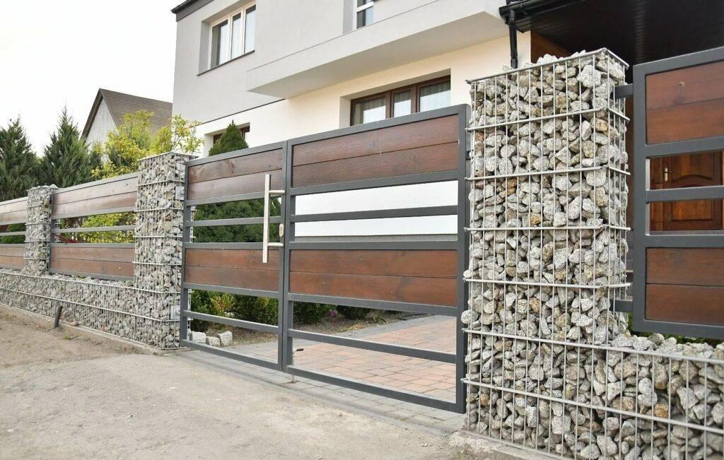 Забор из габионов (сетка с камнями) своими руками