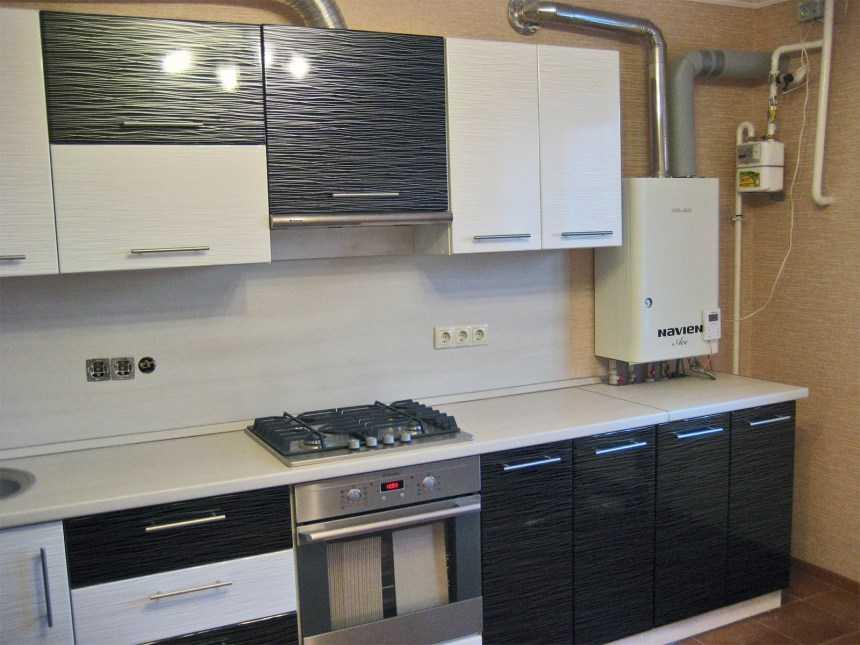 Дизайн кухни с газовым котлом (36 фото): видео-инструкция по оформлению интерьера своими руками, как спрятать, закрыть, обыграть, скрыть, цена, фото