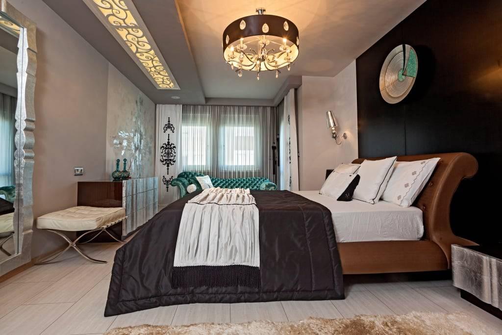 Спальня в стиле модерн: 100 фото модных идей дизайна