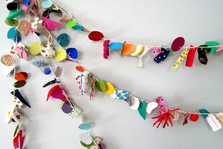 Новогодняя гирлянда своими руками — 20 идей +110 фото изготовления