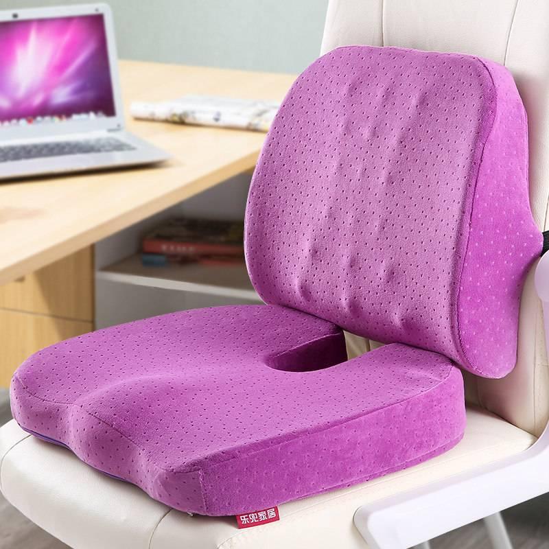Предназначение ортопедической подушки на стул, ее конструкция