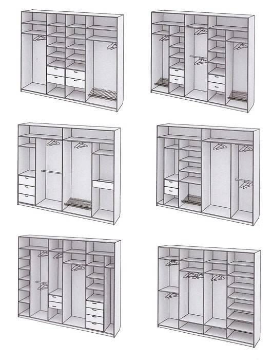 Наполнение шкафа-купе в прихожую, идеи размещения основных элементов