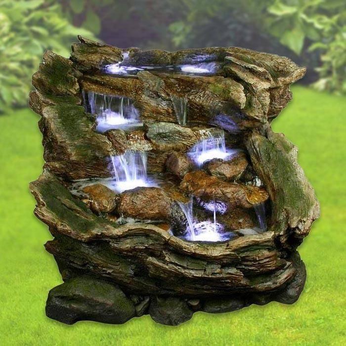 Декоративные фонтаны и водопады для дачи и сада: 75 фото идей