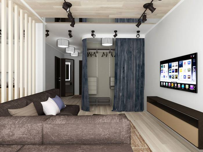 Дизайн однокомнатной квартиры: лучшие варианты, актуальные проекты и идеи стильного обустройства (160 фото)