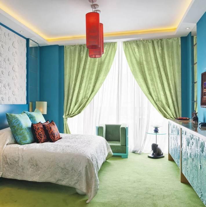 Зеленые обои в спальне (28 фото): светло-зеленый цвет в интерьере, дизайн