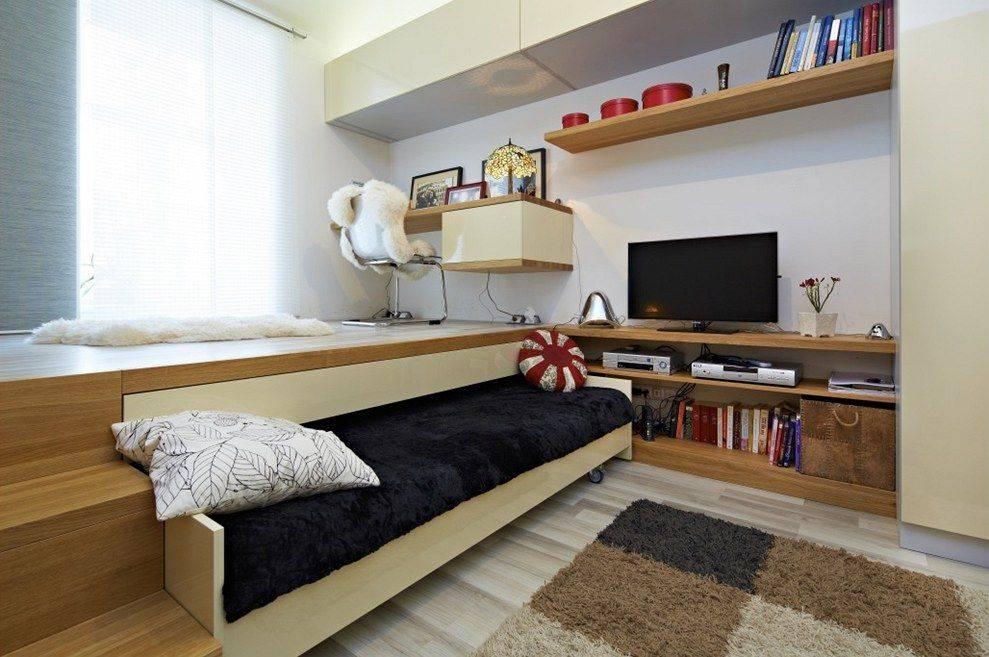 Как сделать кровать-подиум своими руками, чертежи и фото