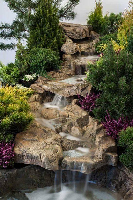 Домашний водопад – необычное решение в дизайне интерьера