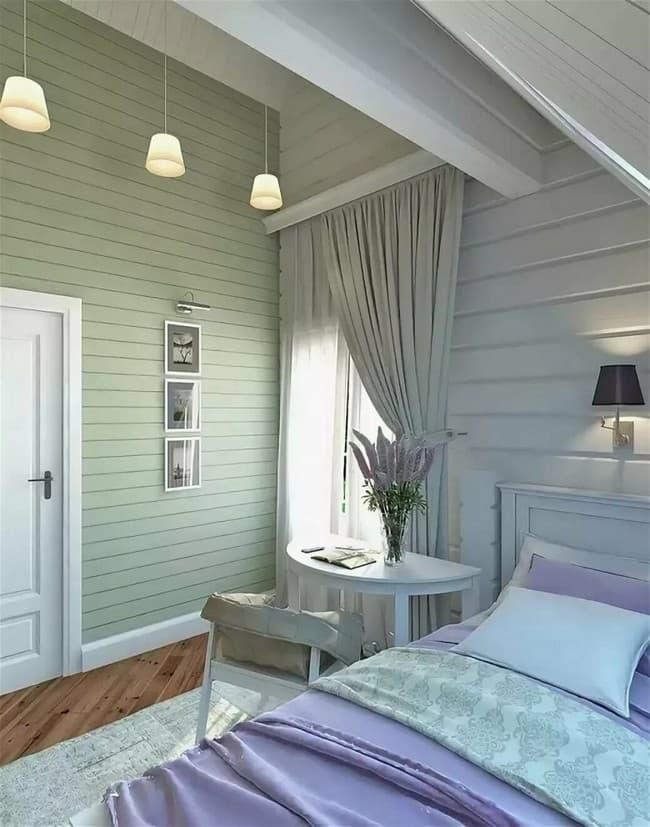 Покраска вагонки внутри дома: красивые идеи
