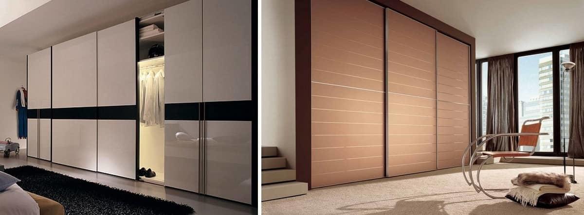 Основные виды дверей для шкафа-купе, их особенности, плюсы и минусы