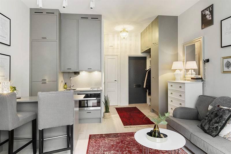 Дизайн и фото кухни-гостиной площадью 24 кв. м