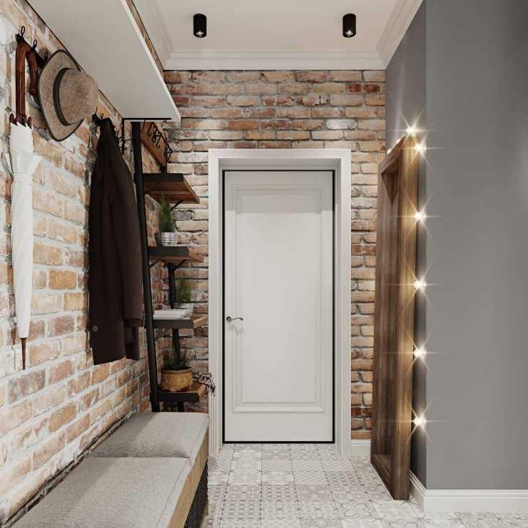 Прихожая в стиле «лофт» (73 фото): оформление мебели своими руками, ремонт коридора, дизайн интерьера
