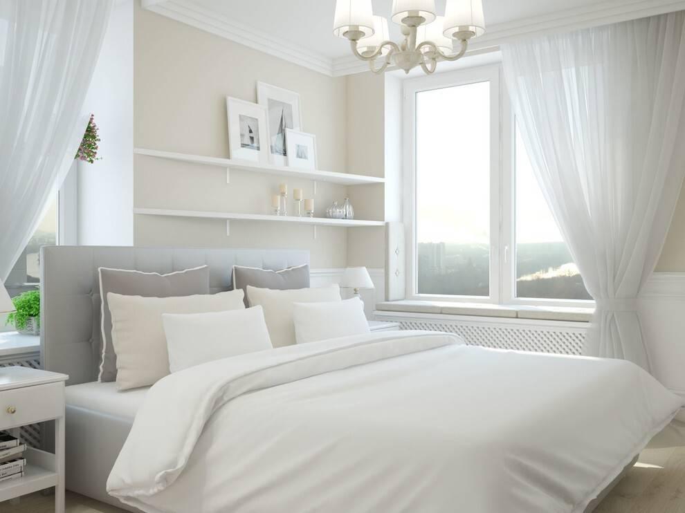 Спальня с белой мебелью: оформление интерьера, правила выбора и размещения мебели. 200 фото новинок дизайна