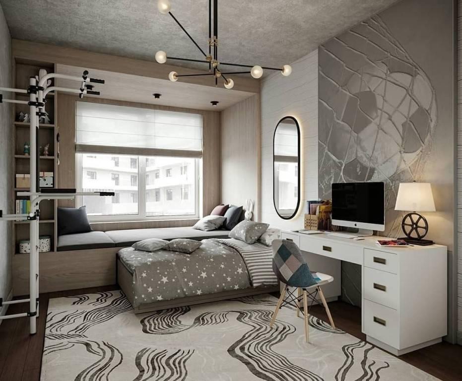 Дизайн комнаты для девушки 18-20 лет в современном стиле: красивый и уютный интерьер красивой молодежной девичьей спальни с мебелью и зеркалом  - 33 фото