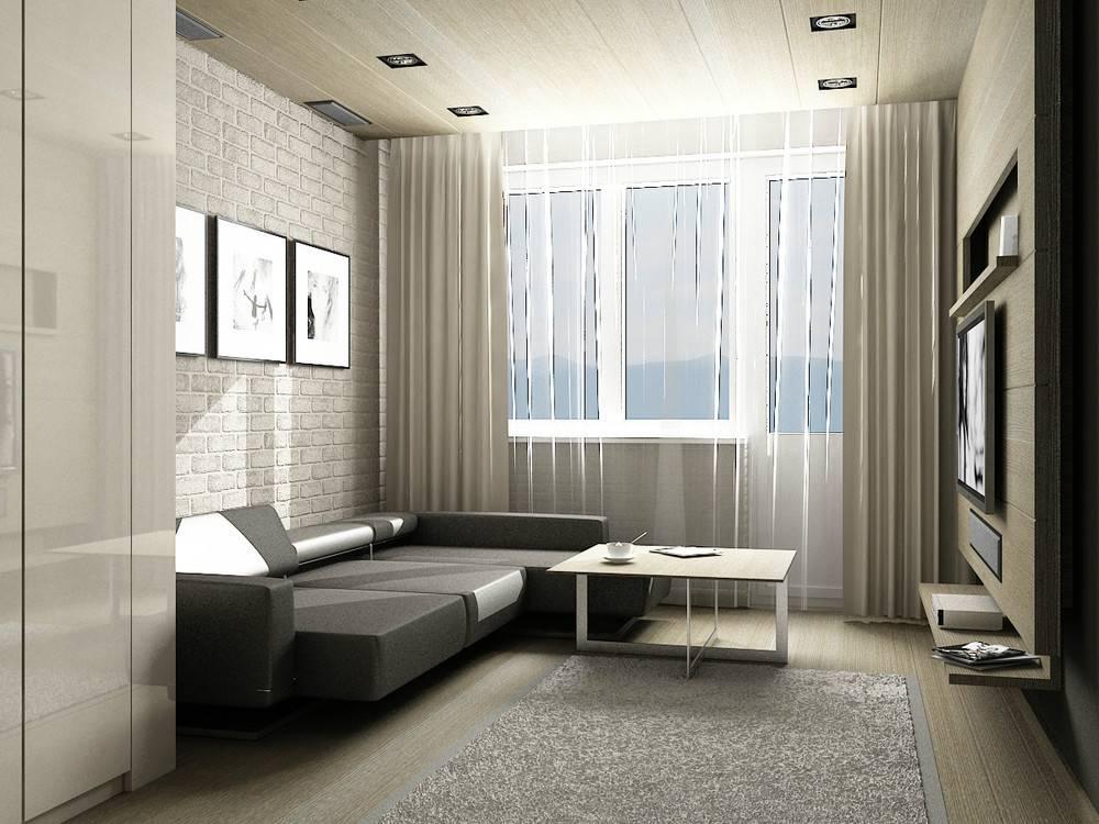 Дизайн мужской квартиры: интерьер однокомнатной студии для молодого человека