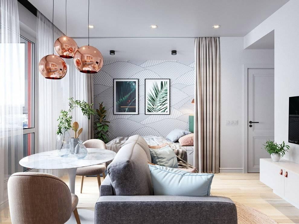 75 вариантов дизайна однокомнатной квартиры: лучшие фото проекты